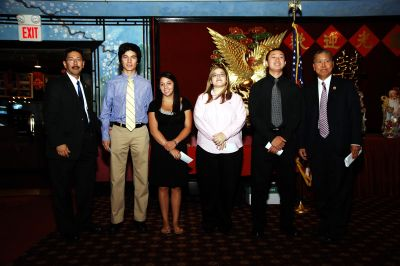 Scholarship Winners with our President, John Lee